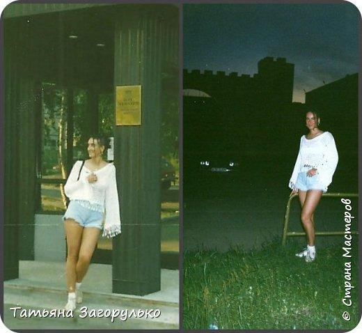 Собрала малую часть (то, что случайно нашлось в альбомах)  вязалочек прошлых лет воедино...   Джемпер с индейским орнаментом. Очень его любила. Вообще любила контрасты: черно-белое, черно-красное, бело-красное... Да и сейчас люблю)))   фото 4