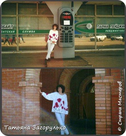 Собрала малую часть (то, что случайно нашлось в альбомах)  вязалочек прошлых лет воедино...   Джемпер с индейским орнаментом. Очень его любила. Вообще любила контрасты: черно-белое, черно-красное, бело-красное... Да и сейчас люблю)))   фото 8