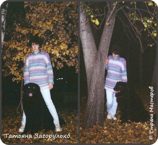 Собрала малую часть (то, что случайно нашлось в альбомах)  вязалочек прошлых лет воедино...   Джемпер с индейским орнаментом. Очень его любила. Вообще любила контрасты: черно-белое, черно-красное, бело-красное... Да и сейчас люблю)))   фото 16