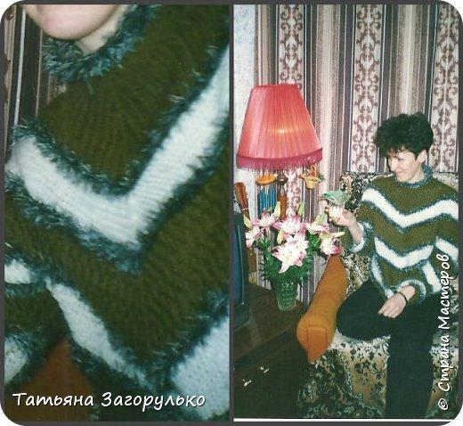 Собрала малую часть (то, что случайно нашлось в альбомах)  вязалочек прошлых лет воедино...   Джемпер с индейским орнаментом. Очень его любила. Вообще любила контрасты: черно-белое, черно-красное, бело-красное... Да и сейчас люблю)))   фото 18