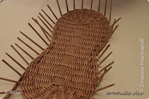 Здравствуйте, жители Страны мастеров. В своей записи http://stranamasterov.ru/node/847941 я обещала сделать мастер-класс по плетению такого башмака, как только мне понадобится его сплести. Время пришло. фото 11