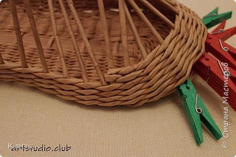 Здравствуйте, жители Страны мастеров. В своей записи http://stranamasterov.ru/node/847941 я обещала сделать мастер-класс по плетению такого башмака, как только мне понадобится его сплести. Время пришло. фото 15
