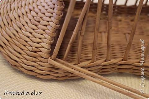 Здравствуйте, жители Страны мастеров. В своей записи http://stranamasterov.ru/node/847941 я обещала сделать мастер-класс по плетению такого башмака, как только мне понадобится его сплести. Время пришло. фото 17