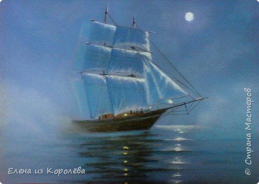 Мое увлечение рисования пастелью набирает обороты ))  Волна... фото 3