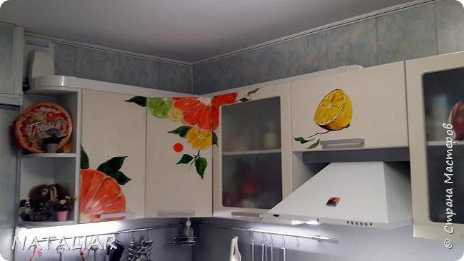 Кухня. Роспись фасадов акриловыми красками. фото 2