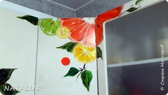Кухня. Роспись фасадов акриловыми красками. фото 5