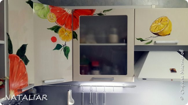 Кухня. Роспись фасадов акриловыми красками. фото 1