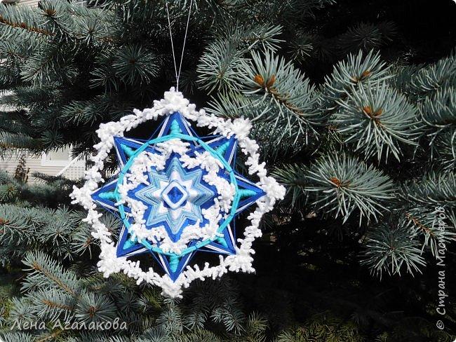 Добрый день! Сплелось у меня несколько мандал которые украсят мой дом на Новый год и Рождество в этом году! фото 2