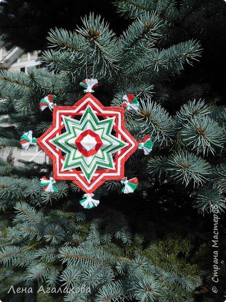 Добрый день! Сплелось у меня несколько мандал которые украсят мой дом на Новый год и Рождество в этом году! фото 1