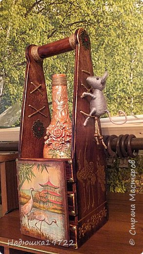 Добрый день, Моя любимая, Страна Мастеров. Вот сделался подарок подружке Галочке. Просила она в Японском стиле и мышку. Пришлось думать. фото 31