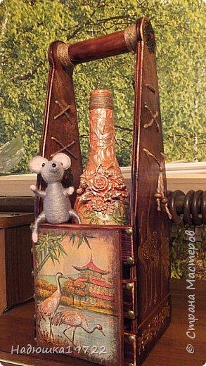 Добрый день, Моя любимая, Страна Мастеров. Вот сделался подарок подружке Галочке. Просила она в Японском стиле и мышку. Пришлось думать. фото 1