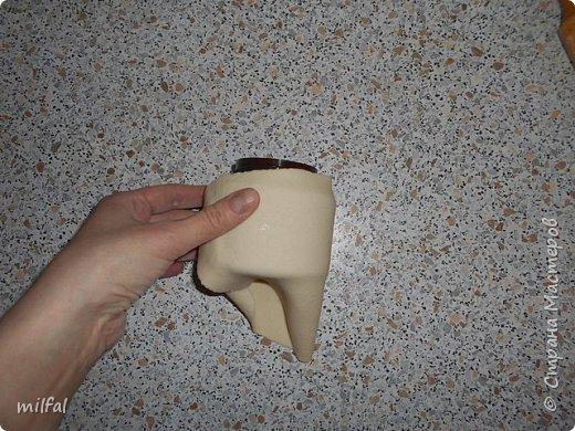 Шкатулка из солёного теста из баночки из-под крема. Состав солёного теста:Мука пшеничная — 2 стакана Соль «Экстра» — 1 стакан Вода —3/4 стакана фото 4