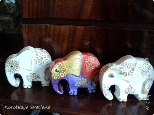 Приветствую жителей Страны мастеров! Вот такие слоники отлитые из гипса у меня появились благодаря Литвиновой Наташе. Наташенька, благодарю за идею. Твои слоники бесподобны! Я тоже старалась и вот что вышло. фото 1