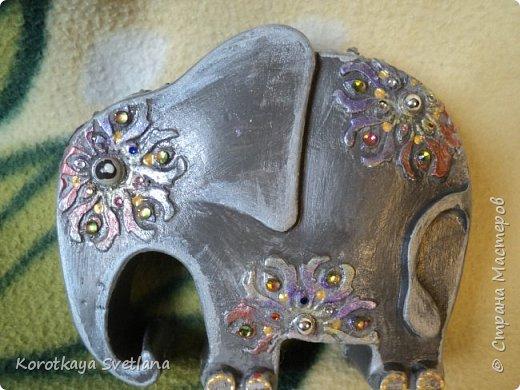 Приветствую жителей Страны мастеров! Вот такие слоники отлитые из гипса у меня появились благодаря Литвиновой Наташе. Наташенька, благодарю за идею. Твои слоники бесподобны! Я тоже старалась и вот что вышло. фото 13