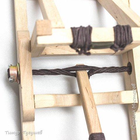 Деревянная модель римского онагра фото 5