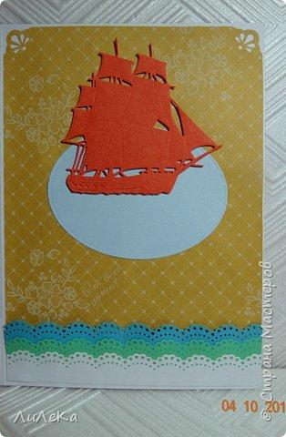 Эта открытка-папка полностью моя задумка. Пеликан заботливо раскрыл свои крылья, оберегая птенцов... фото 6