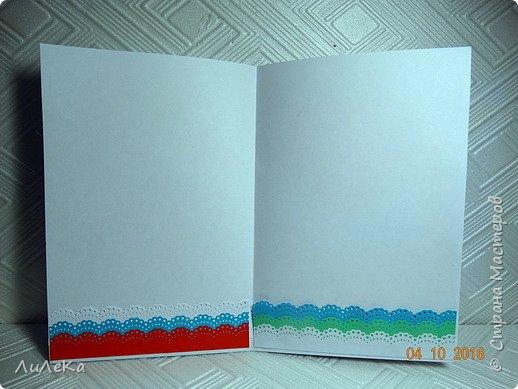 Эта открытка-папка полностью моя задумка. Пеликан заботливо раскрыл свои крылья, оберегая птенцов... фото 8