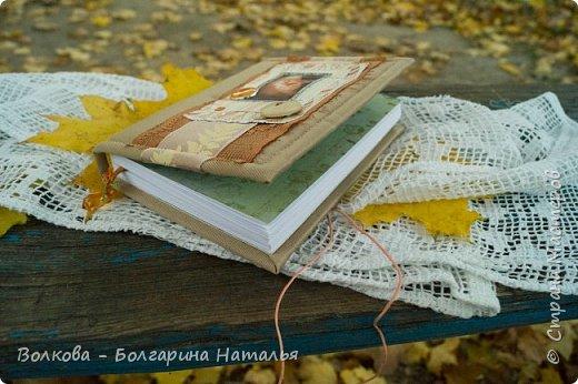 """Всем привет!!! У меня вне зависимости от праздников или будней снова котейка на обложке блокнота:) Я использовала  один двухсторонний лист из коллекции """"Осень в кармане"""" от Mr.Painter. Вроде лист один, а впечатление такое, что все три листа там - настолько всё разнообразно, гармонично:) фото 7"""