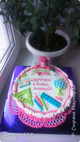 Добрый вечер, Страна. Вот мои тортики за сентябрь. 1 сентября с тортиком на школьную тему фото 1