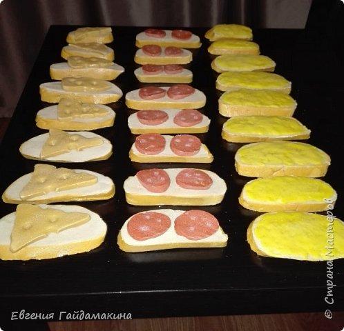 Бутерброды из соленого теста