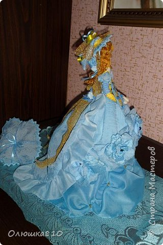 Леди в голубом (куклы-шкатулки) фото 8