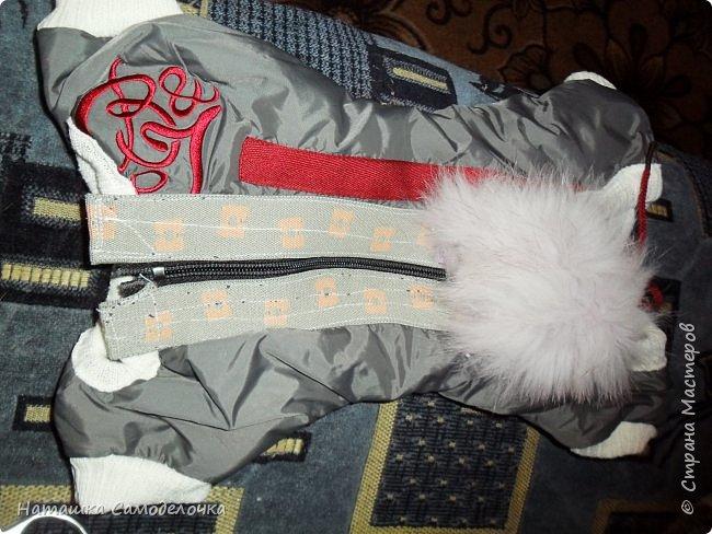продолжение (из шарфов)вот такой еще комбезик получился с пушком ,как крылья у ангелочка. фото 11