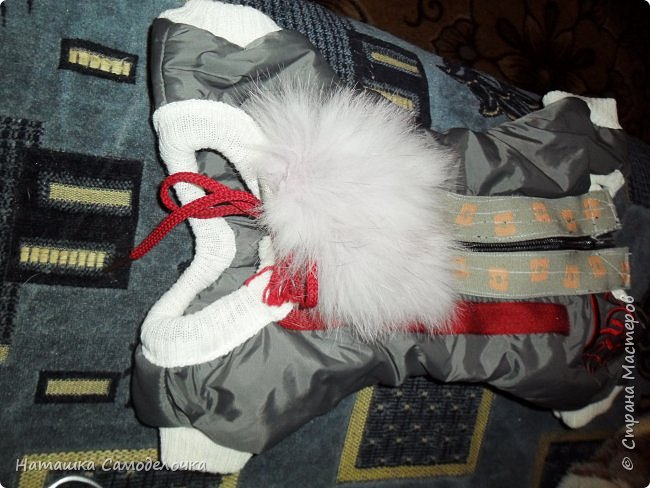 продолжение (из шарфов)вот такой еще комбезик получился с пушком ,как крылья у ангелочка. фото 12