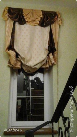 Из остатков шторных тканей сшилась такая штора - на длинное и узкое окно  фото 2