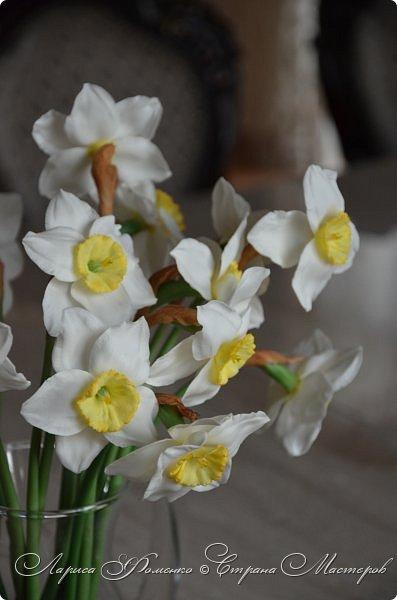 А у меня - Весна !!!  Нарциссы из полимерной глины.  Нарциссы у меня уже были, это повтор, они будут добавлены в два разных букета.   фото 4