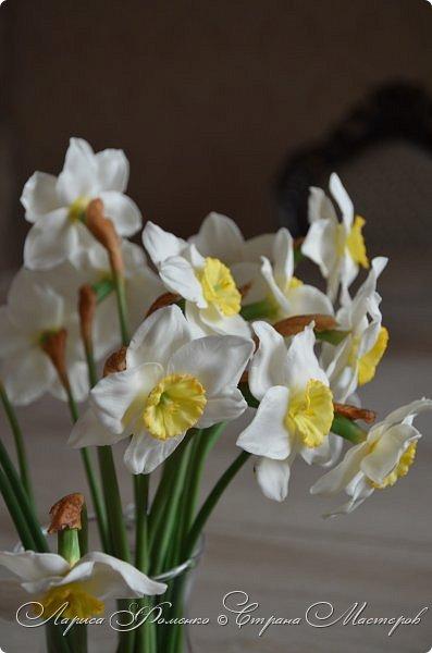 А у меня - Весна !!!  Нарциссы из полимерной глины.  Нарциссы у меня уже были, это повтор, они будут добавлены в два разных букета.   фото 6