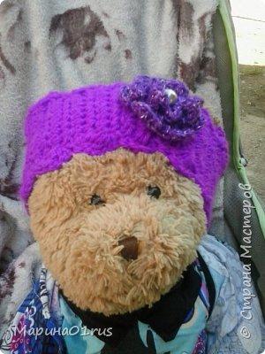 Осенняя повязка для девочки крючком. фото 4