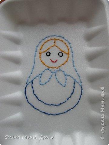 А вы пробовали вышивать на пенопласте? А бумажными салфетками? Нет! А вот мы с моей дочкой попробовали! фото 4