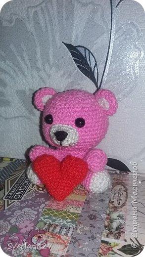 Розовый медвежонок  фото 1