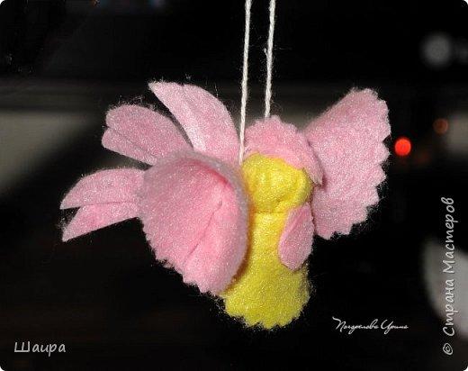 Пока делала ангелочков из ватных дисков http://stranamasterov.ru/node/1052665,  подумала, что по такому же принципу можно сделать и петушков. фото 12