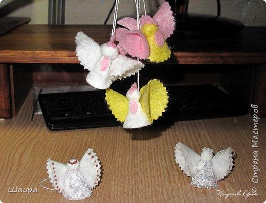 Пока делала ангелочков из ватных дисков http://stranamasterov.ru/node/1052665,  подумала, что по такому же принципу можно сделать и петушков. фото 13