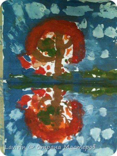 """Монотипия на тему """"Осень"""" (Максим, 5 лет) фото 1"""