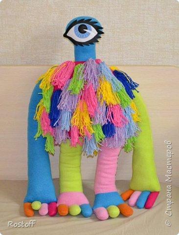 """Доброго всем вечера!  Эта странная особа - герой сериала """"Сваты"""", сшилась на заказ для маленькой девочки.  Стоит с опорой) фото 1"""