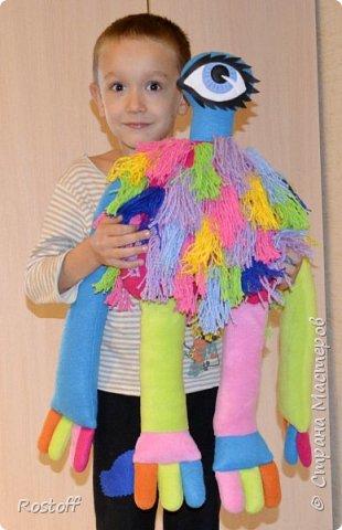 """Доброго всем вечера!  Эта странная особа - герой сериала """"Сваты"""", сшилась на заказ для маленькой девочки.  Стоит с опорой) фото 4"""