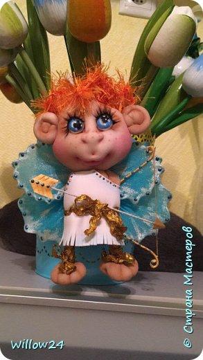 Ангелочки в подарок по МК Елены Ауловой.  фото 1
