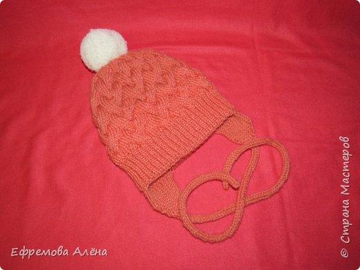 Вот такие шарфики и шапочки связались у меня для моих двойняшек крестиков Даниила и Дарьи фото 12