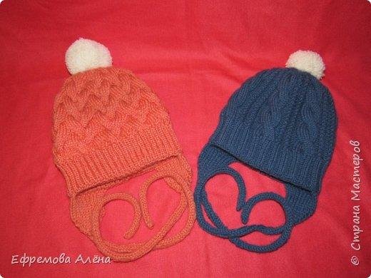 Вот такие шарфики и шапочки связались у меня для моих двойняшек крестиков Даниила и Дарьи фото 9