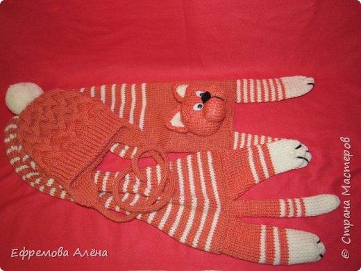 Вот такие шарфики и шапочки связались у меня для моих двойняшек крестиков Даниила и Дарьи фото 14
