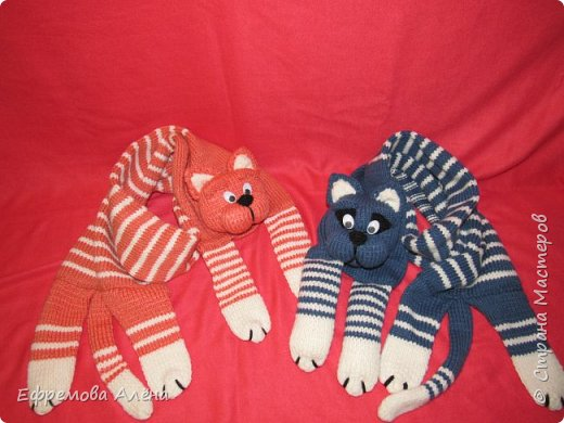 Вот такие шарфики и шапочки связались у меня для моих двойняшек крестиков Даниила и Дарьи фото 5