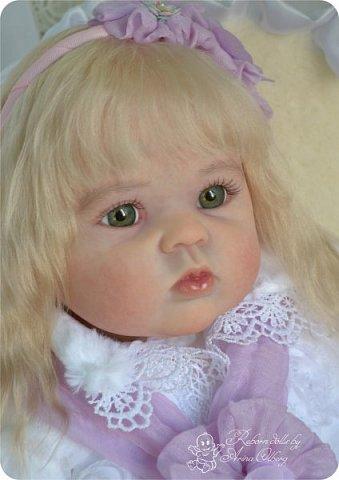 Здравствуйте, девочки! Представляю вашему вниманию очередную новенькую куколку из моей мастерской:) Знакомьтесь, милая, нежная, зеленоглазая Викуля. Рост 63см, вес 3 кг фото 2