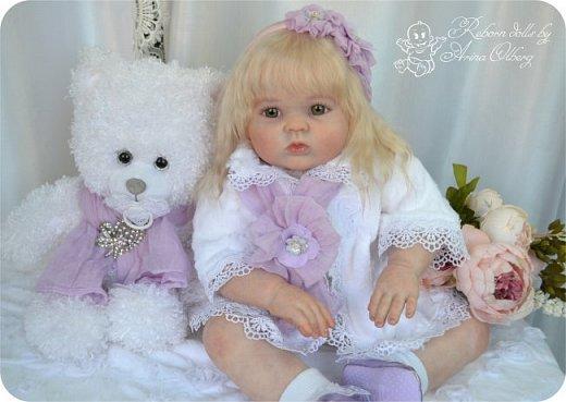 Здравствуйте, девочки! Представляю вашему вниманию очередную новенькую куколку из моей мастерской:) Знакомьтесь, милая, нежная, зеленоглазая Викуля. Рост 63см, вес 3 кг фото 7