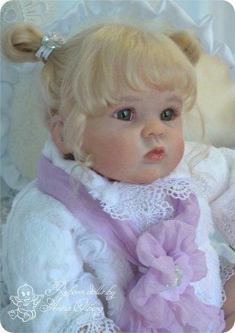 Здравствуйте, девочки! Представляю вашему вниманию очередную новенькую куколку из моей мастерской:) Знакомьтесь, милая, нежная, зеленоглазая Викуля. Рост 63см, вес 3 кг фото 9