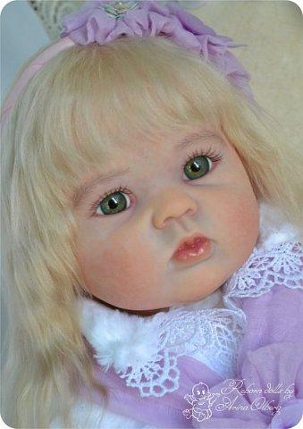Здравствуйте, девочки! Представляю вашему вниманию очередную новенькую куколку из моей мастерской:) Знакомьтесь, милая, нежная, зеленоглазая Викуля. Рост 63см, вес 3 кг фото 1