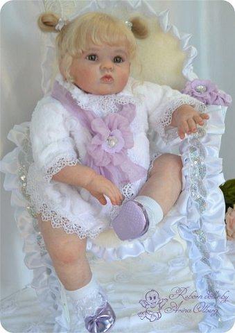 Здравствуйте, девочки! Представляю вашему вниманию очередную новенькую куколку из моей мастерской:) Знакомьтесь, милая, нежная, зеленоглазая Викуля. Рост 63см, вес 3 кг фото 10