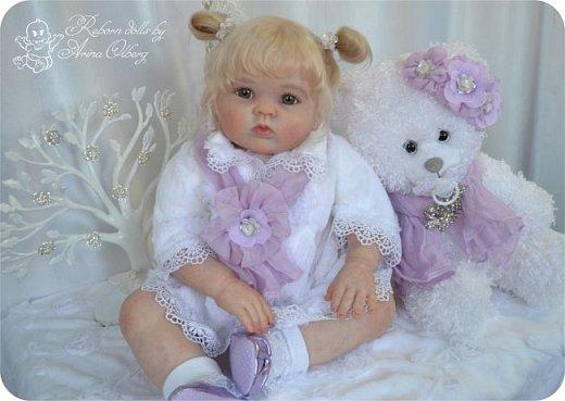 Здравствуйте, девочки! Представляю вашему вниманию очередную новенькую куколку из моей мастерской:) Знакомьтесь, милая, нежная, зеленоглазая Викуля. Рост 63см, вес 3 кг фото 11