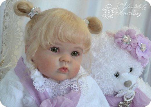 Здравствуйте, девочки! Представляю вашему вниманию очередную новенькую куколку из моей мастерской:) Знакомьтесь, милая, нежная, зеленоглазая Викуля. Рост 63см, вес 3 кг фото 12